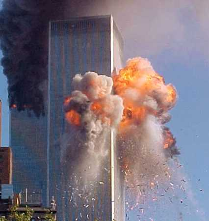 9/11 World Trade Center Exploding