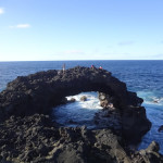 Big Volcanic Arch on the East Coast of the Big Island of Hawaii
