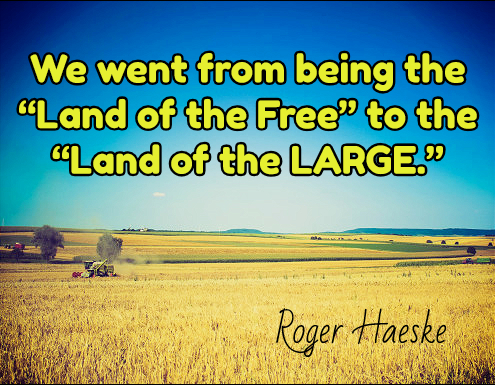 We went from being the land of the free to the land of the large.
